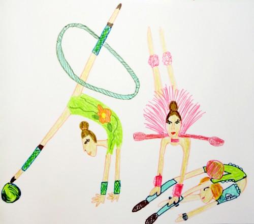 гимнастика, акробатика, мяч, булава, шпагат, спортсменка, спорт, виннер, обруч