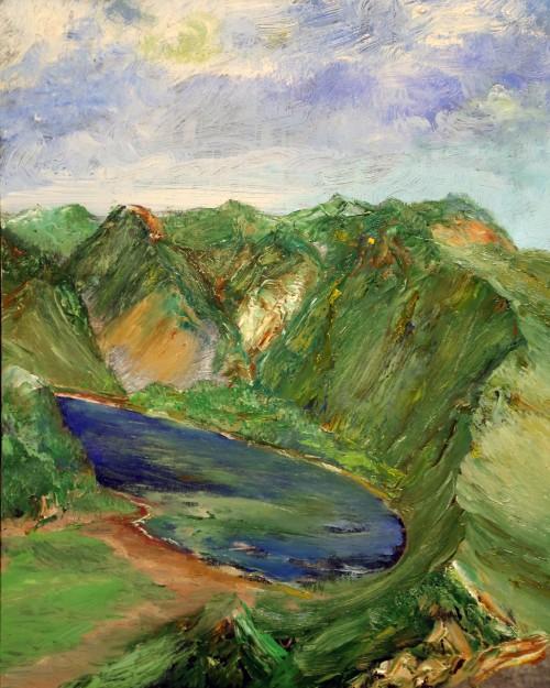 гора, горы, озеро, синее озеро
